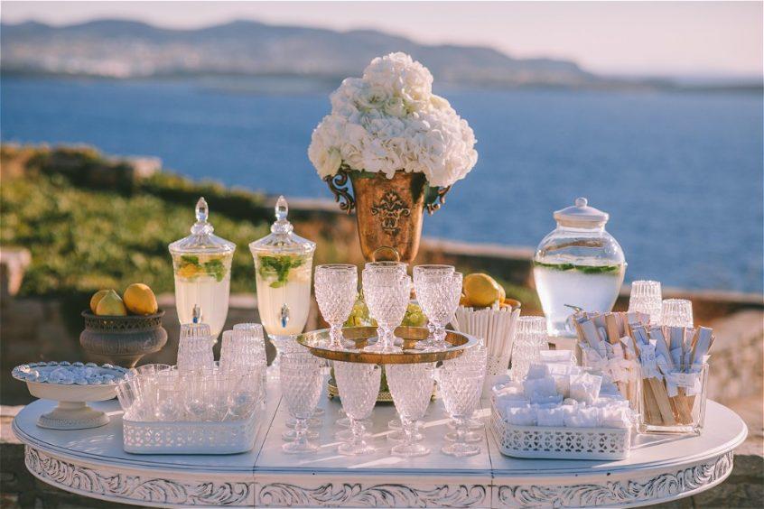 best wedding planner in Greece candy bar setup