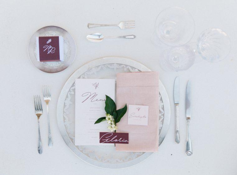 best wedding planner in Greece art de la table setup