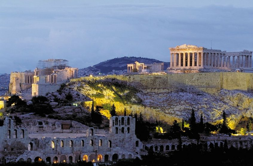 Acropolis Athens Greece during afternoon