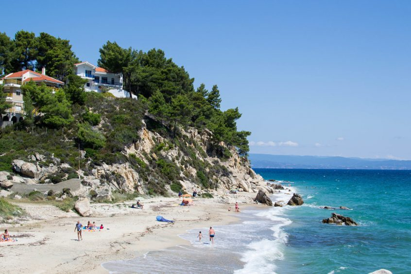 Destination wedding in greece Halkidiki beach