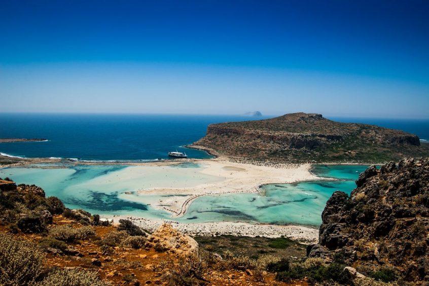 Destination wedding in Greece Crete sea view