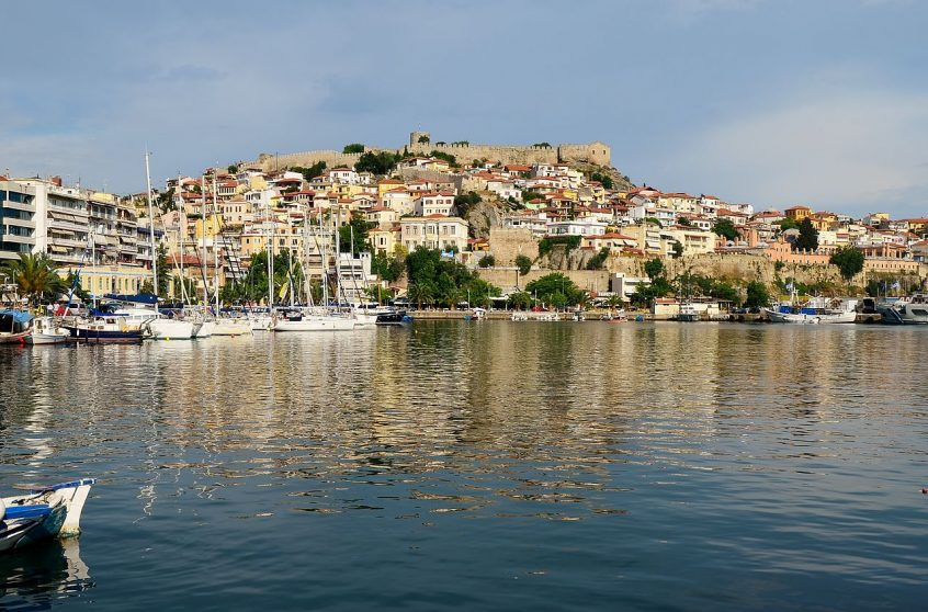 Kavala Greece wedding location port view from sea