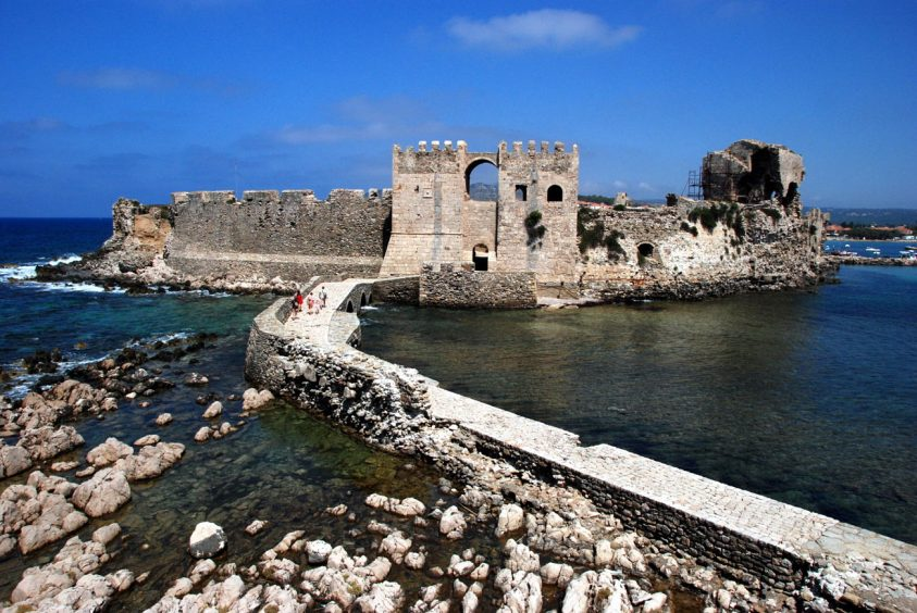 Methoni Greece Castle and sea view