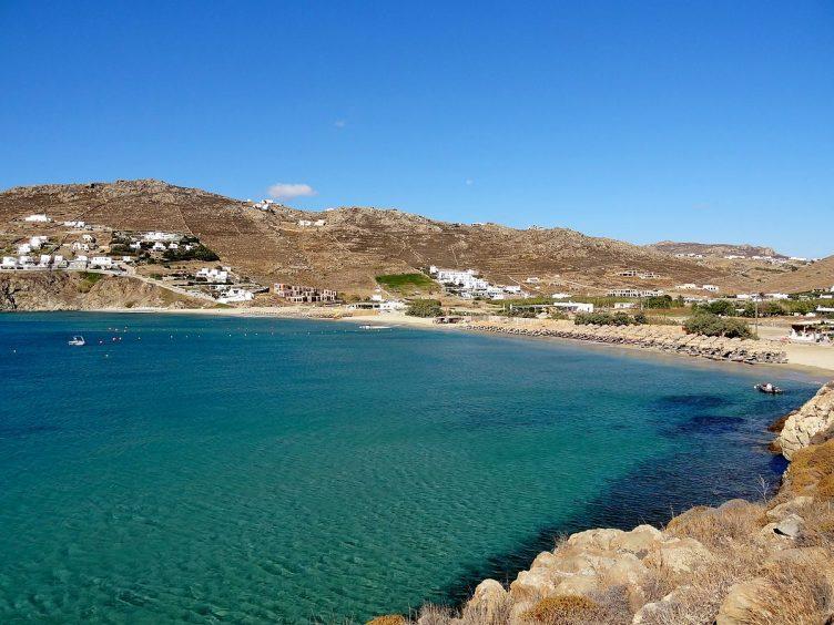 Kalo Livadi Mykonos private beach wedding sea view