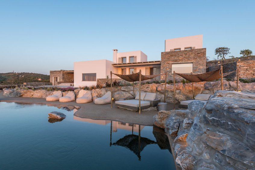 Kea(Tzia) destination wedding in Greece villa view
