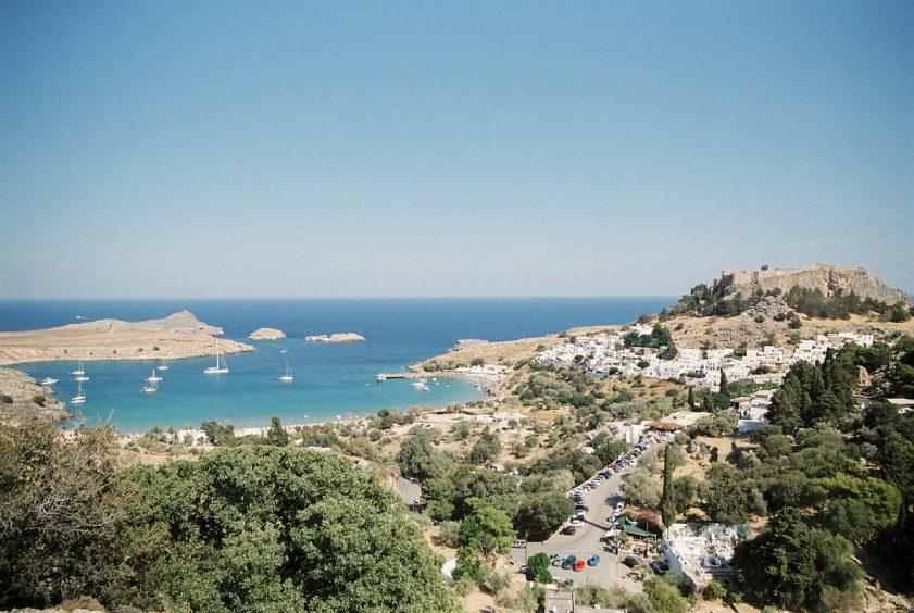 Rhodes Green hilltop sea view
