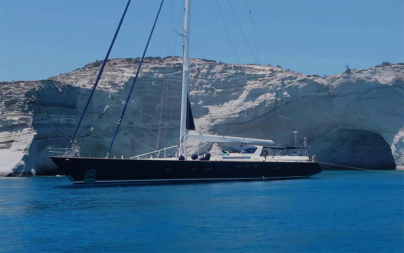 Yacht wedding in Greece