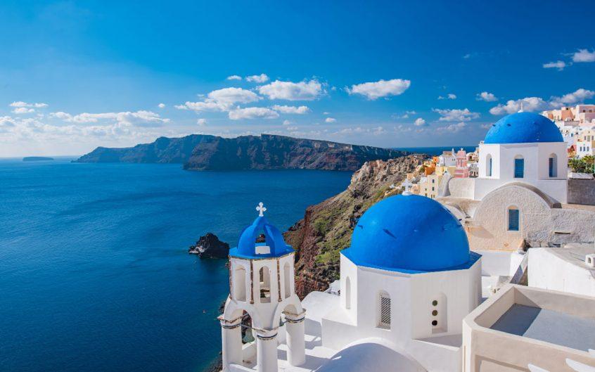 Santorini wedding prices sea and caldera view