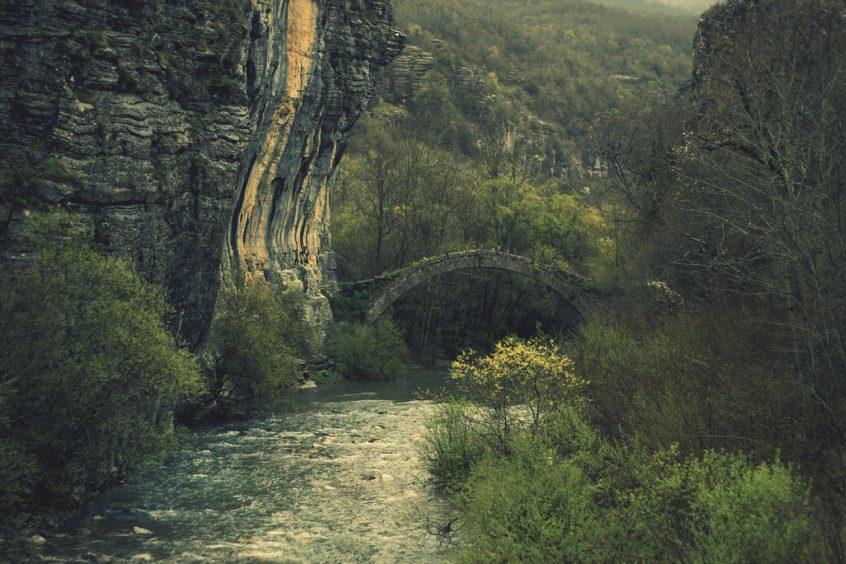 Zagorochoria wedding location Greece woods and stone path