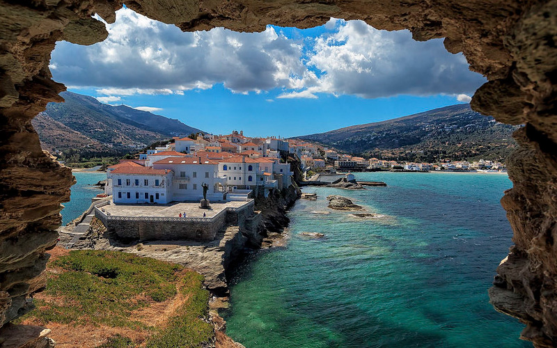 Andros Island view