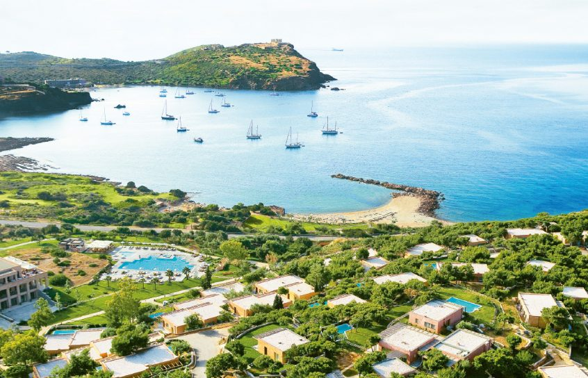 Cape sounio resort sea and greenery