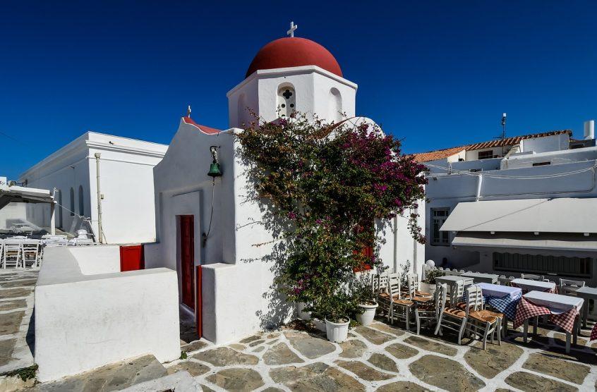 Church for a Mykonos wedding