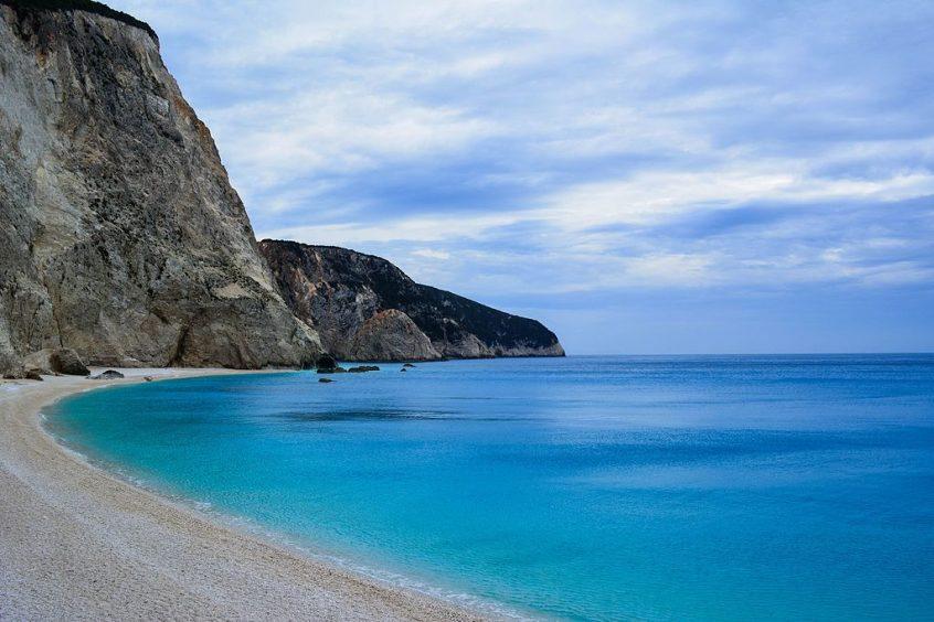 Destination wedding in Greece beach in lefkada