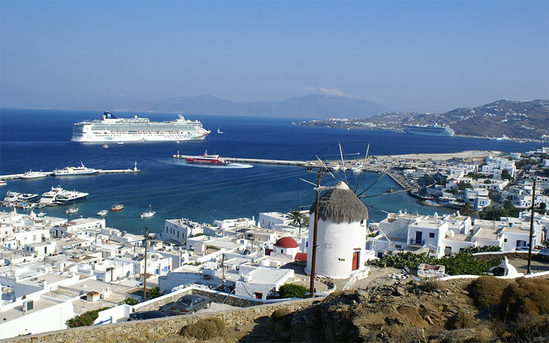 View of the Mykonos Town
