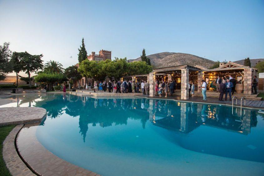 wedding venues in Athens pyrgos melisourgou pool reception