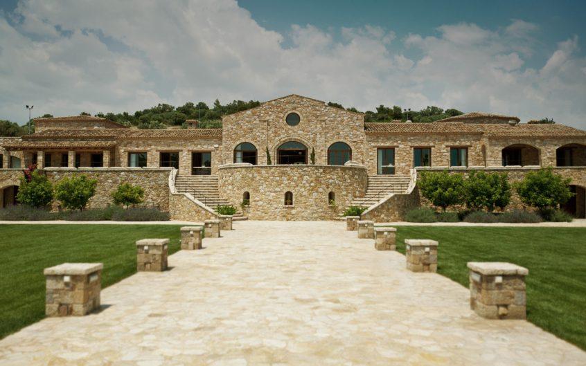 Pyrgos petreza stone walkway