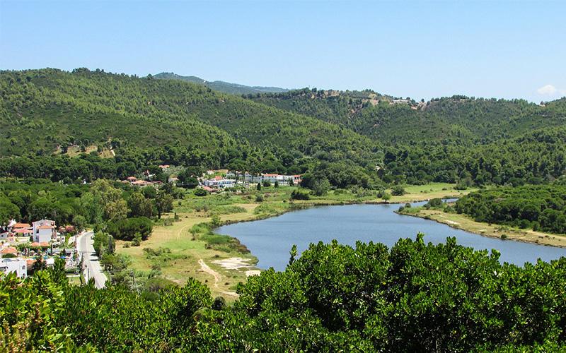 Skiathos island field view