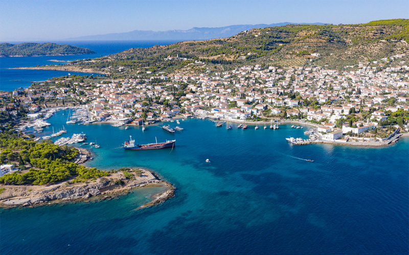 Aerial photo of Spetses
