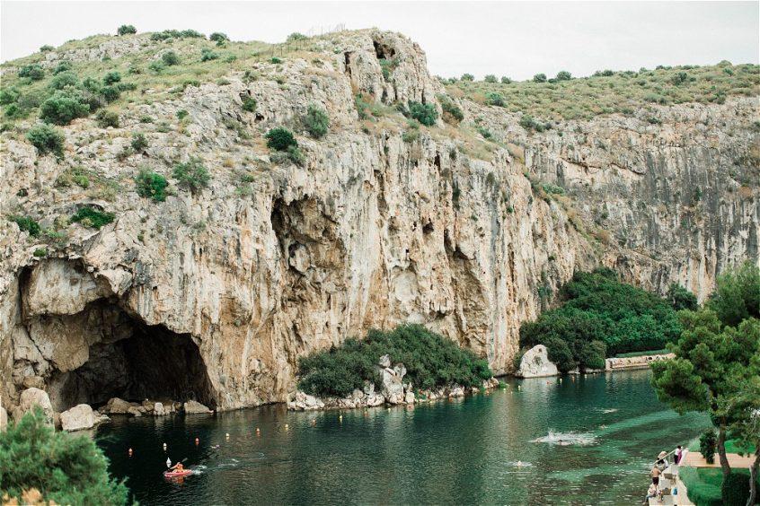 Lake vouliagmeni in Athenian Riviera