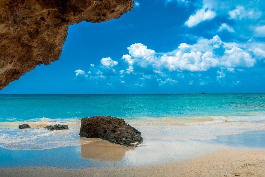 Sea and bright blue sky